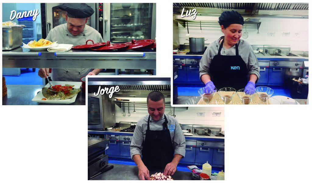 Conocemos a Luz, Danny y Jorge, Directores del equipo de cocina de Círculo marisquería.