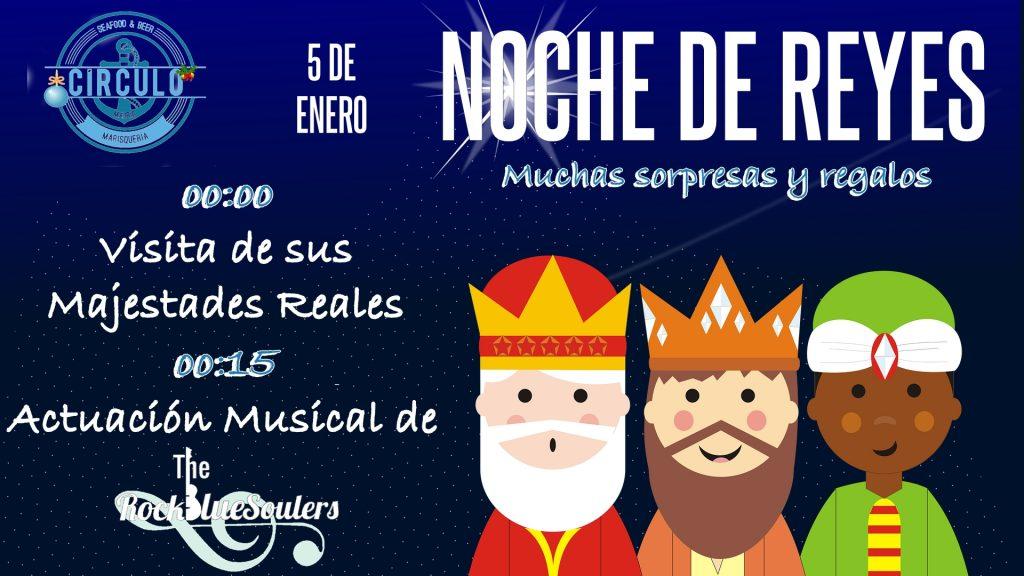 Disfruta la noche de Reyes con nosotros #CirculoMusicDay y con Los Rockbluesoulers