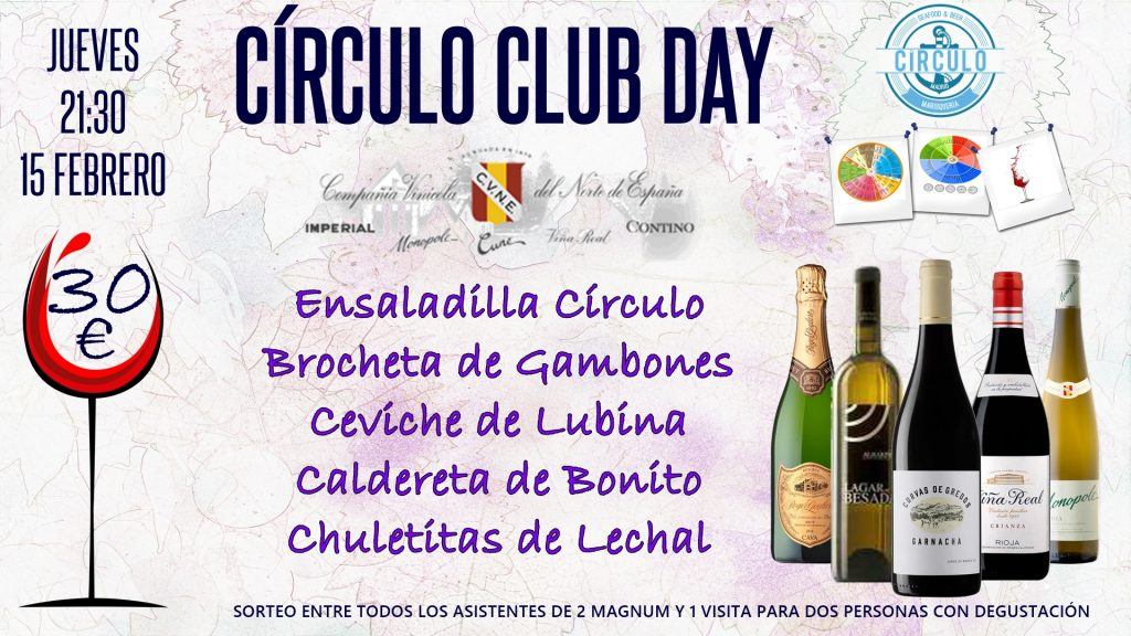 Próximo #CirculoClubDay Febrero 2018 con Cune