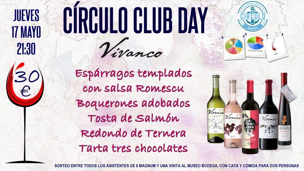 Próximo #CirculoClubDay Mayo 2018 con Vivanco