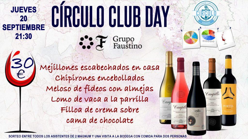 Próximo #CirculoClubDay Septiembre 2018 con Grupo Faustino