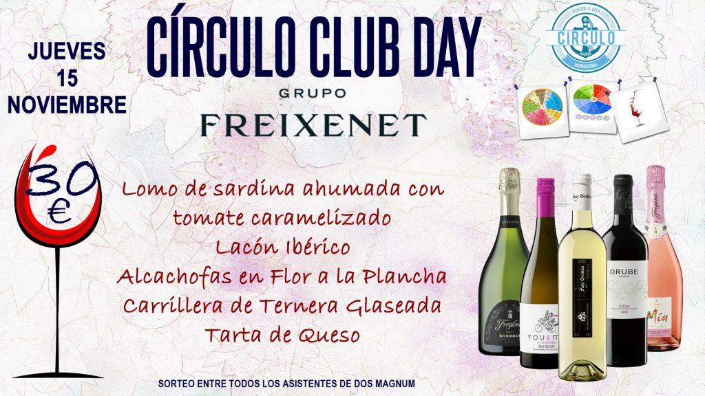 Próximo #CirculoClubDay Noviembre 2018 con Grupo Freixenet