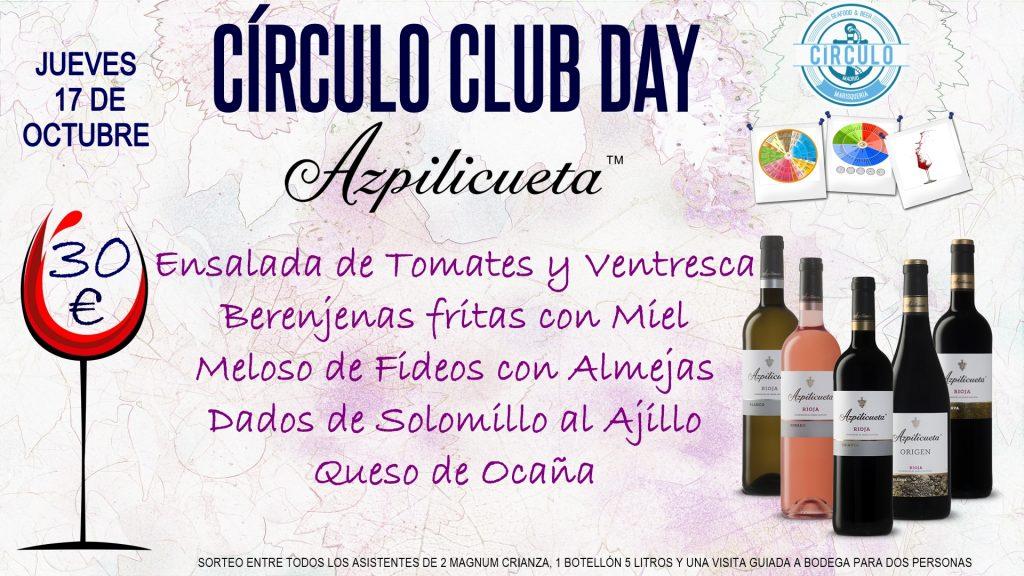Próximo #CirculoClubDay Octubre 2019 con Bodegas Azpilicueta