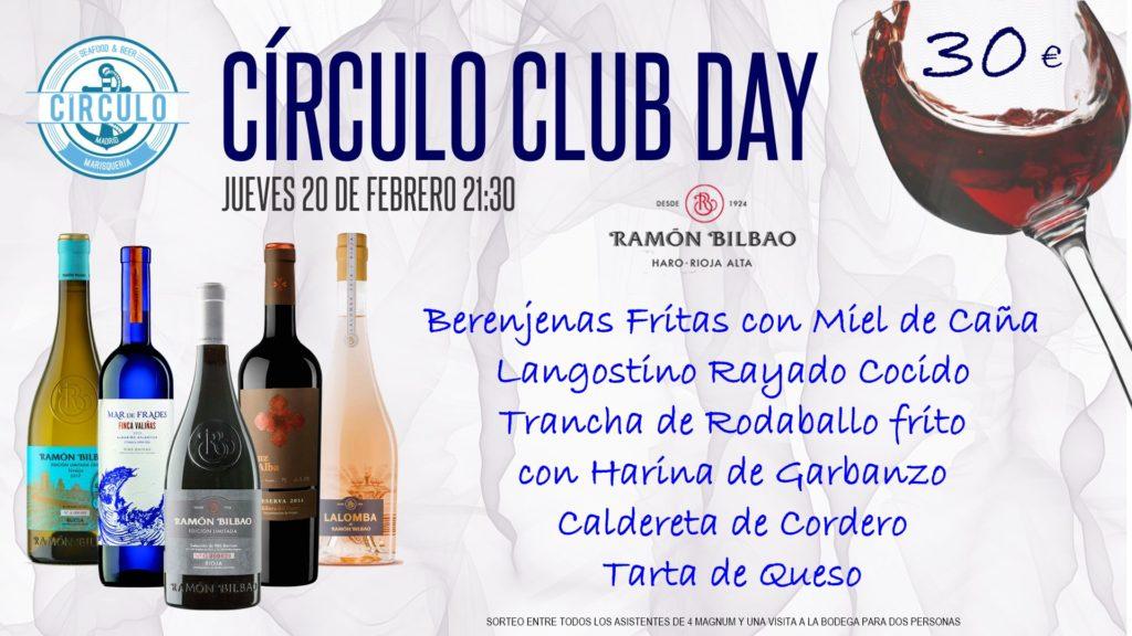 Próximo #CirculoClubDay Febrero 2020 con Ramón Bilbao