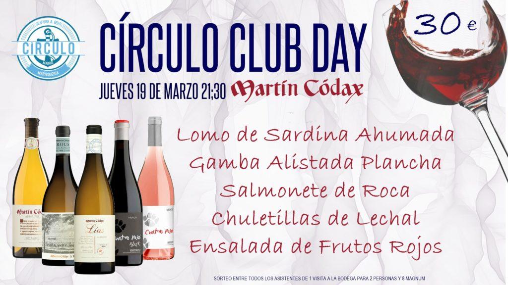 Próximo #CirculoClubDay Marzo 2020 con Martín Codax