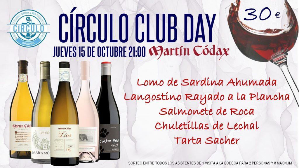 Próximo #CirculoClubDay Octubre 2020 con Martín Codax