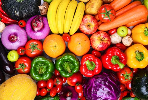 El significado de los colores en verduras y frutas