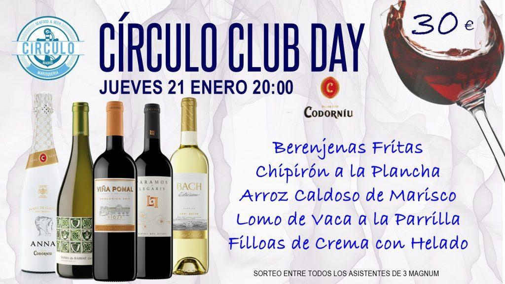Próximo #CirculoClubDay Enero 2021 con Codorniú